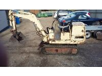 Yanmar YB 10 1.1 ton Mini digger Old but works well