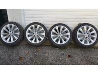 VW Turbine 18'' alloy wheels + 4 x tyres 225 45 18