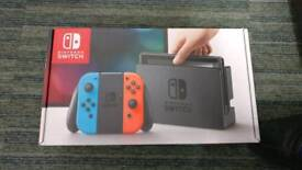 Brand New Nintendo Switch Neon with Extras