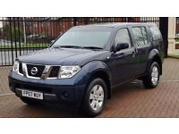 2007 NISSAN PATHFINDER DIESEL 2.5 DCI TREK ,LOW MILEAGE 4WD AWD 4x4 mpv estate ,not shogun hilux
