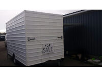 EXHIBITION TRAILER REAR AND SIDE OPENING WHITE