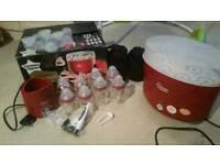 Sterilizer, breast pump, baby bath