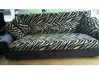 Zebra sofa bed with storage VERY GOOD CONDITION