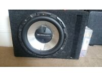 Car sub and amp 12 inch