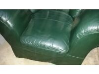 Leather chair large single