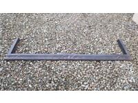 Cast iron fire fender - arts and crafts style
