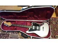 Fender Jaguar Blacktop guitar with case