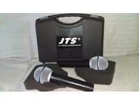 Microphones are Boxed as new,jts tm929 wired microphones.