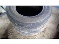 2 tyres for van 195/15 near new suitable volkswagen T4