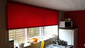 Rich Red Roller blind