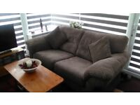 two seater sofa + two reclining chairs (almost brand new), will sell separate.