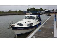 Motor Boat Hardy Family Pilot 20SE 1997, lying Poole Harbour