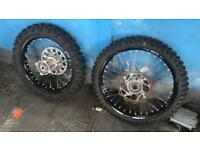 Motocross or enduro wheels