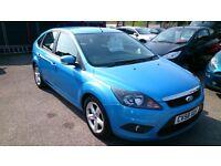 £400 OFF.. 2008 (58) FORD FOCUS 1.6 ZETEC 5 DOOR HATCH BLUE OCT MOT 107K + F/S/H ALLOYS CD R/C/L E/W