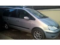 FORD GALAXY 1.9TDI 2001Y FOR SPARES GOOD ENGINE AND 6SP GEARBOX
