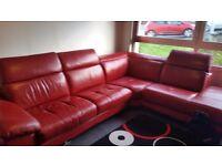 Red leather corner
