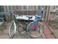 Bicycle with child seat for sale £40