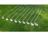 Ping Eye 2+ irons 3-SW Ping JZ Stiff Shafts, NEW Golf Pride Grips