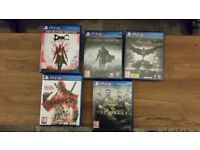 5 great titles Ps4 games!