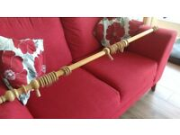 Wooden Curtain Pole with Rings