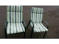 Cracking garden chairs padded washable cushions