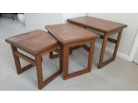 Nest of Solid Wood Occasional Tables