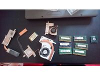 Laptop bits ddr2 and ddr 3 ram cpu and wlan heatsink and fans