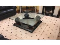 Pristine Glass Wooden Coffee table