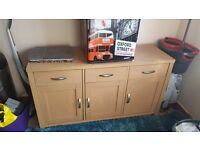 Large wood modern cideboard cupboard with 3 draws and 3 cupboards