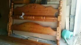 Wooden bed queen size