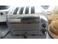 Dualit 4 slice Chrome Toaster - Model D4VMH GB near-new condition