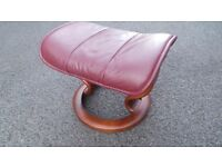 Ekornes stressless Leather Foot Stool,Possible delivery