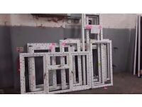 ELEVEN ASSORTED WHITE UPVC WINDOW FRAMES ( JUST FRAME NO GLASS