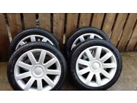 17 inch 5 stud multi fit alloys audi rs4 style