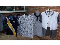 Mixed bags of boys clothing. Ages 9 - 15. School polo shirts, grey school trousers, t-shirts etc