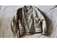 Men Used Real Leather motorbike jacket Size 44