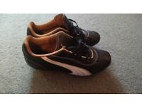 Puma football boots size UK 6 Barely worn has sons initials in biro on inside.