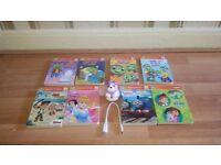 Leapreader violet and books