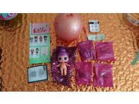 LOL Surprise Doll Series 2 Sugar Queen. Glitter, Gold Ball, Rare