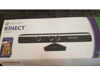 Xbox360 kinect with 2 games