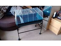 Large Indoor Cage & Stand with Wheels - Suitable for small rabbit, hamster, ferret, guinea pig, etc