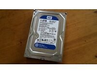 "Western Digital 1TB blue hard drive (internal 3.5"") - good condition"