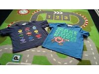Mr Men t-shirts x 2 age 1 1/2- 2