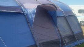 One large 6 Birth tent with camping accessories and nearly new awning