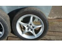 Toyota Celica 16inch alloy wheel and tyre, 5x100 £50