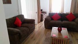 HARVEY'S Lucille Jumbo brown cord 2 & 3 sofa settees