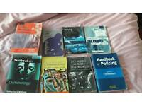 Books ideal for law criminology or police studies