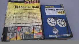Technical data and timing belt books