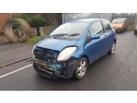 2006(06) TOYOTA YARIS T - SPIRIT D4D IN BLUE DAMAGED SPARES OR REPAIRS