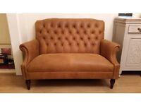 Laura Ashley Lancaster Colorado Tan Brown Leather Sofa RRP £2200